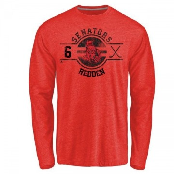 Men's Wade Redden Ottawa Senators Insignia Tri-Blend Long Sleeve T-Shirt - Red