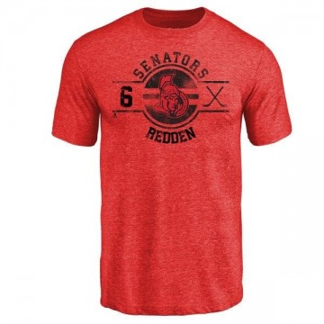 Men's Wade Redden Ottawa Senators Insignia Tri-Blend T-Shirt - Red
