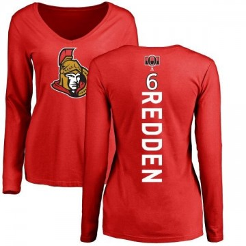 Women's Wade Redden Ottawa Senators Backer Long Sleeve T-Shirt - Red